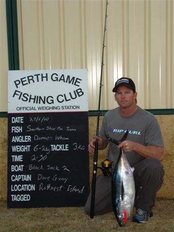 Damien Wham - Record southern bluefin tuna on 3 kg tackle